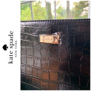kate spade Bags - NWT Kate Spade croc leather tote black